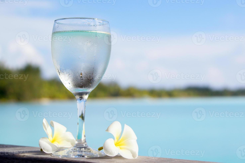 Refrescante bebida fría. foto