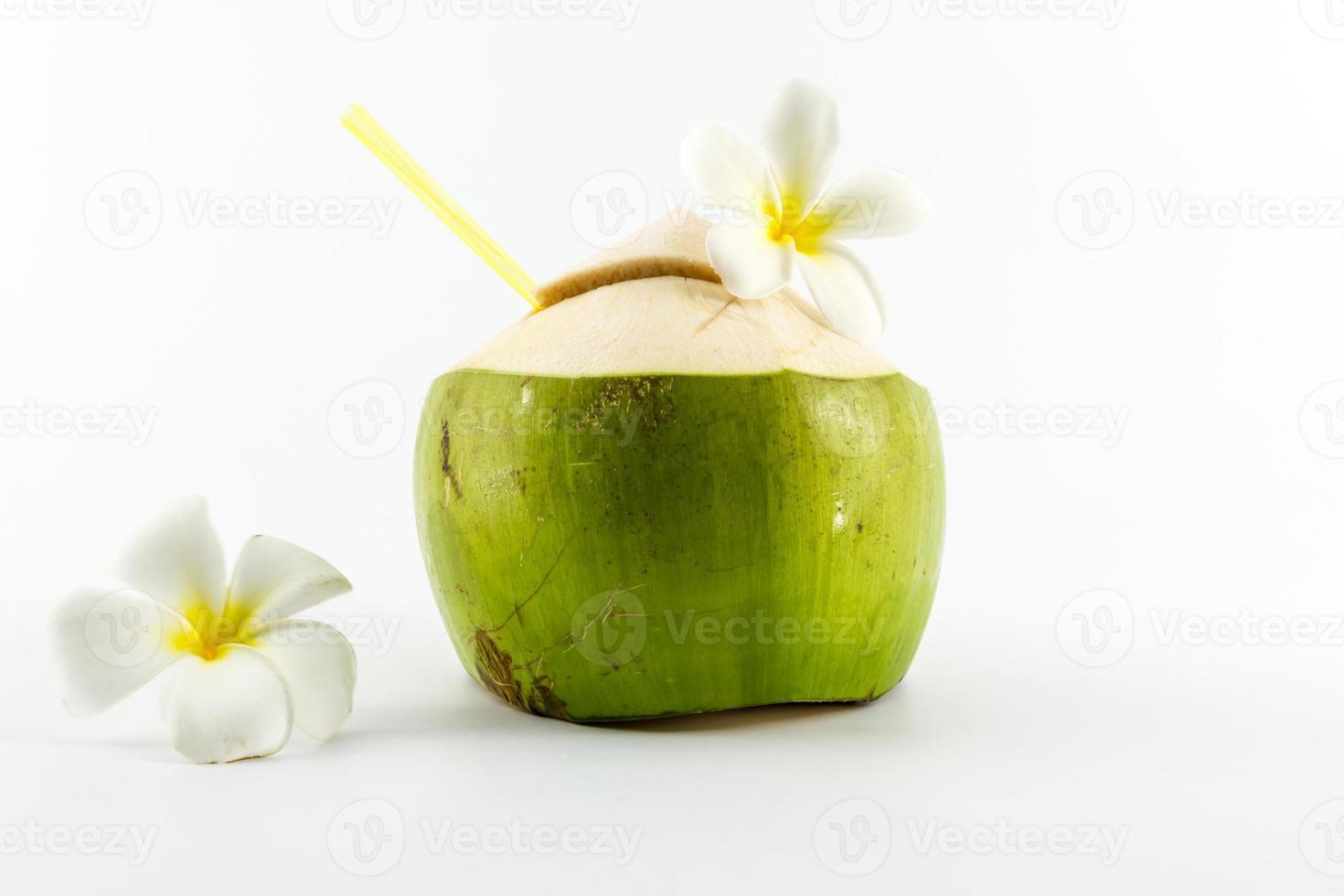 Bebida de agua de coco. foto