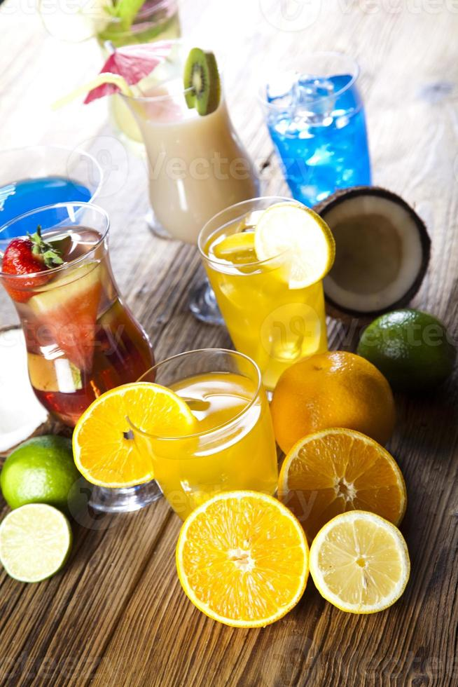 Exotic alcohol drinks photo