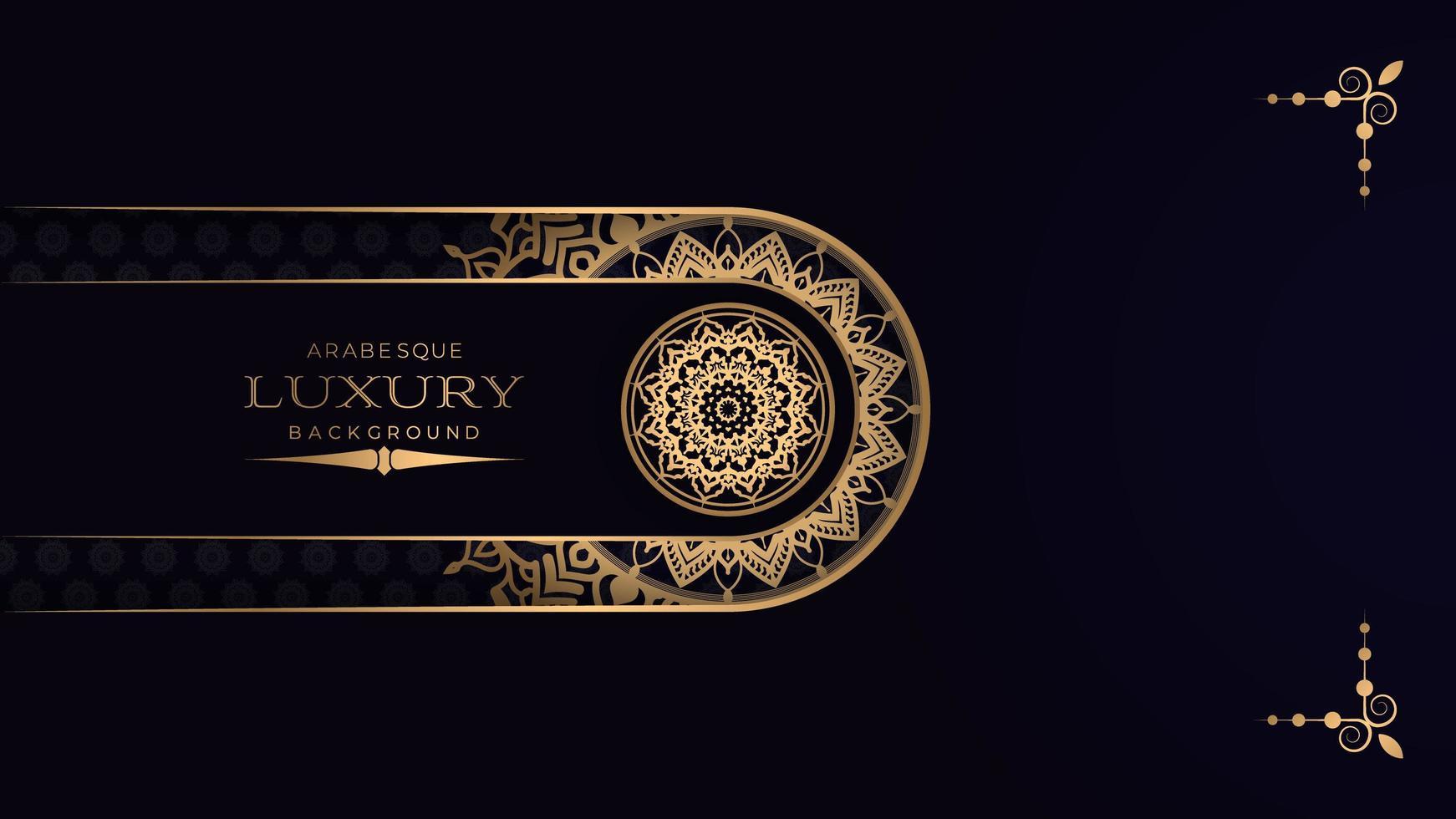 Black Luxury Mandala Background  vector