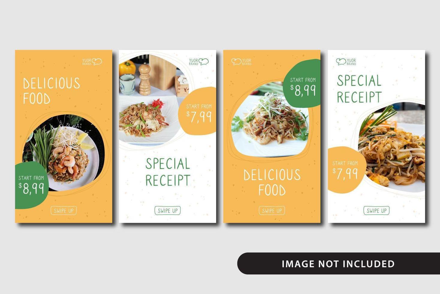 Food Social Media Story Template vector