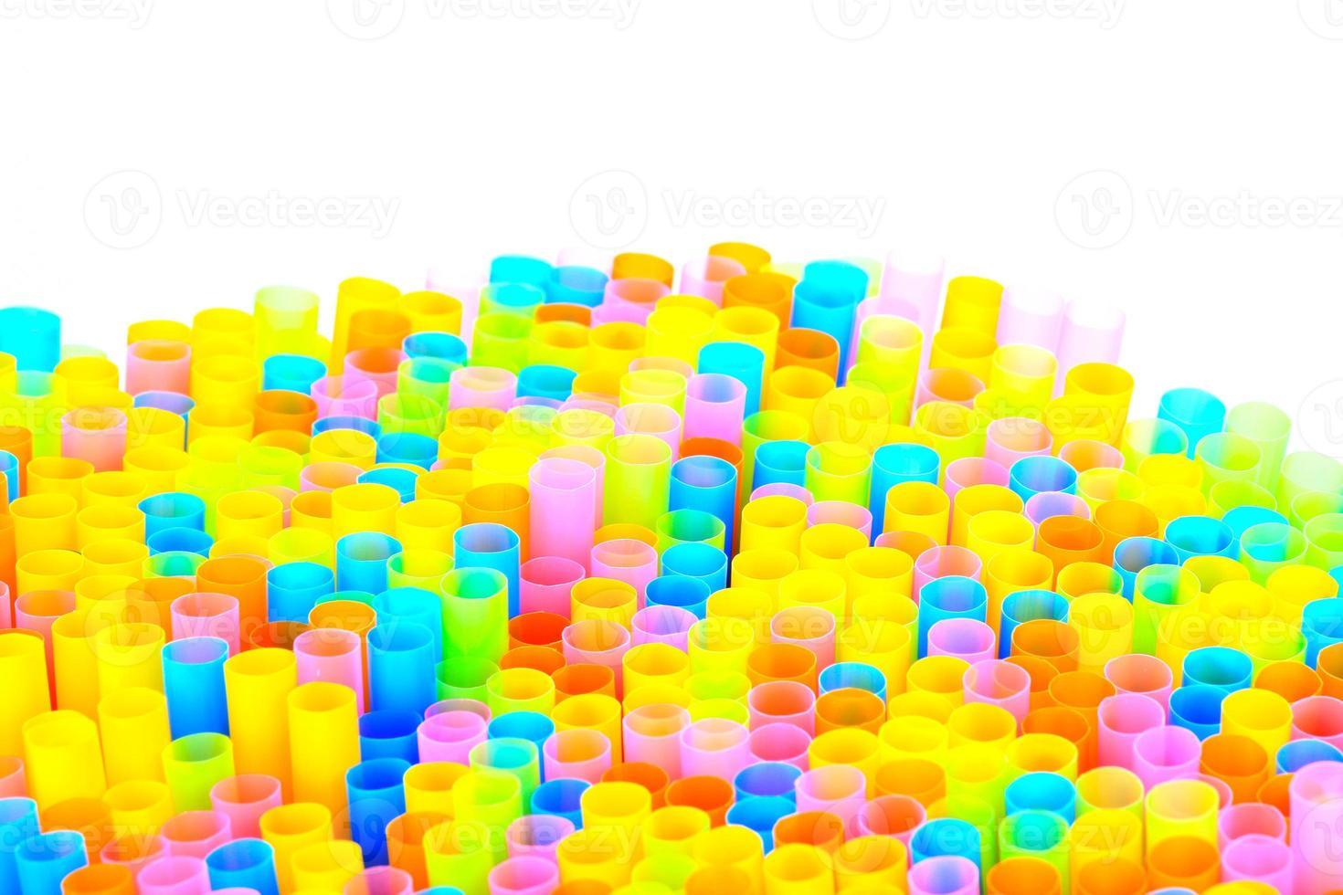 pajitas de colores foto