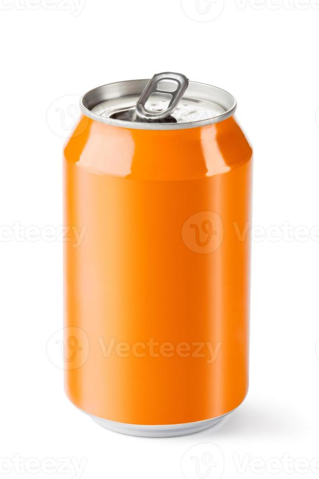 Opened drink can photo