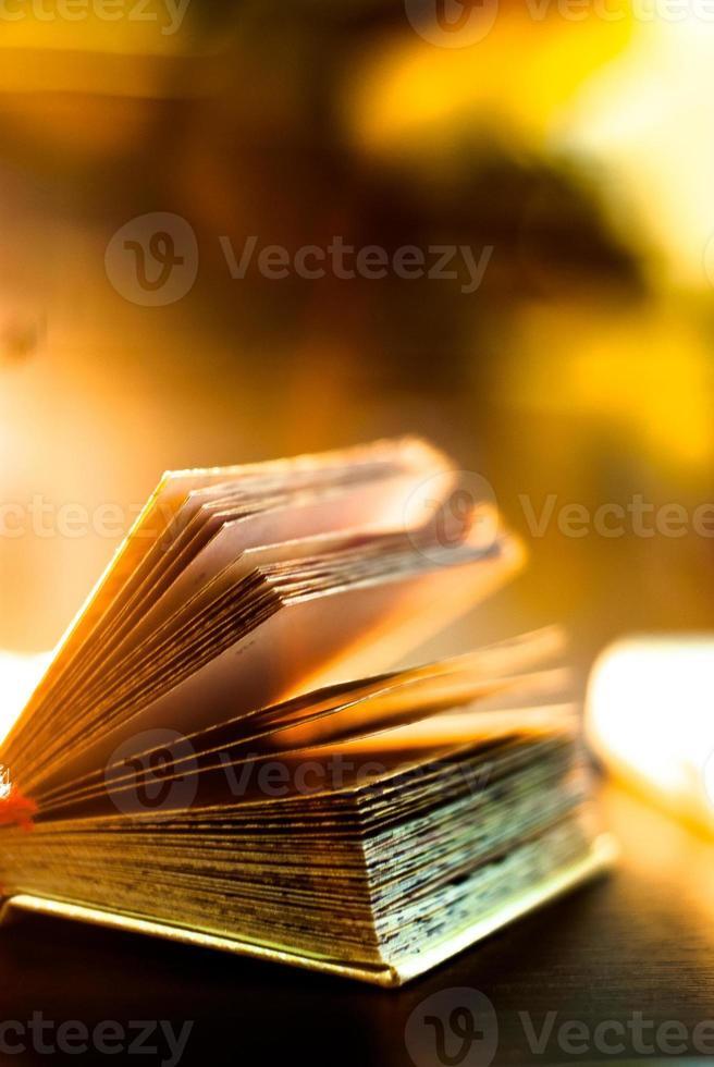 libro abierto con las páginas separadas foto