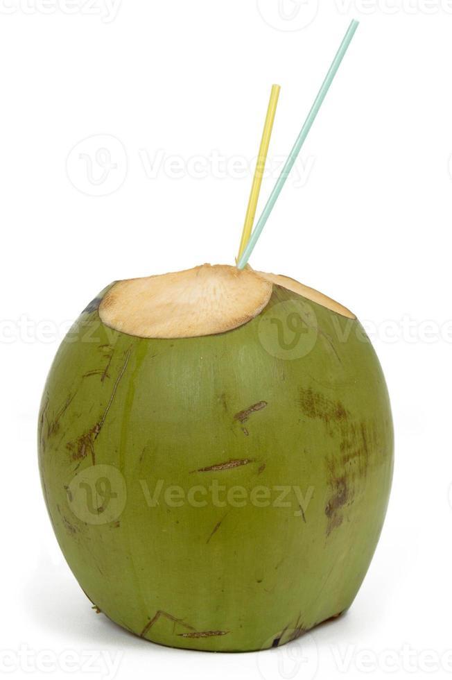 bebida de agua de coco foto