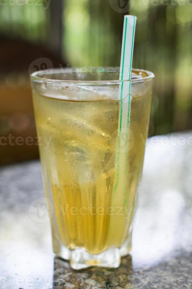 freshing drink in glass photo