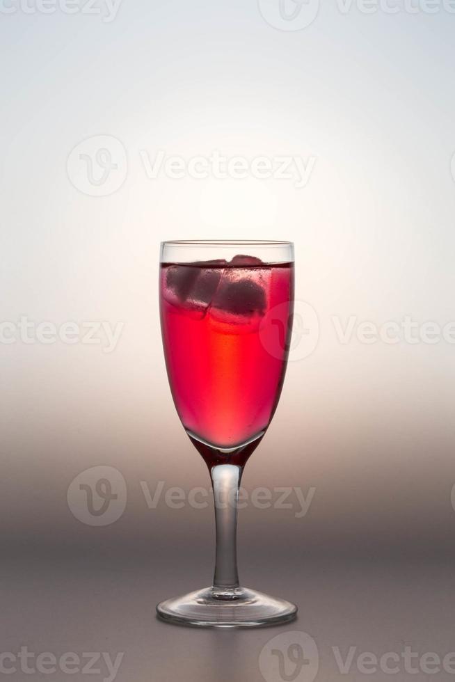 bebida dulce en vaso foto