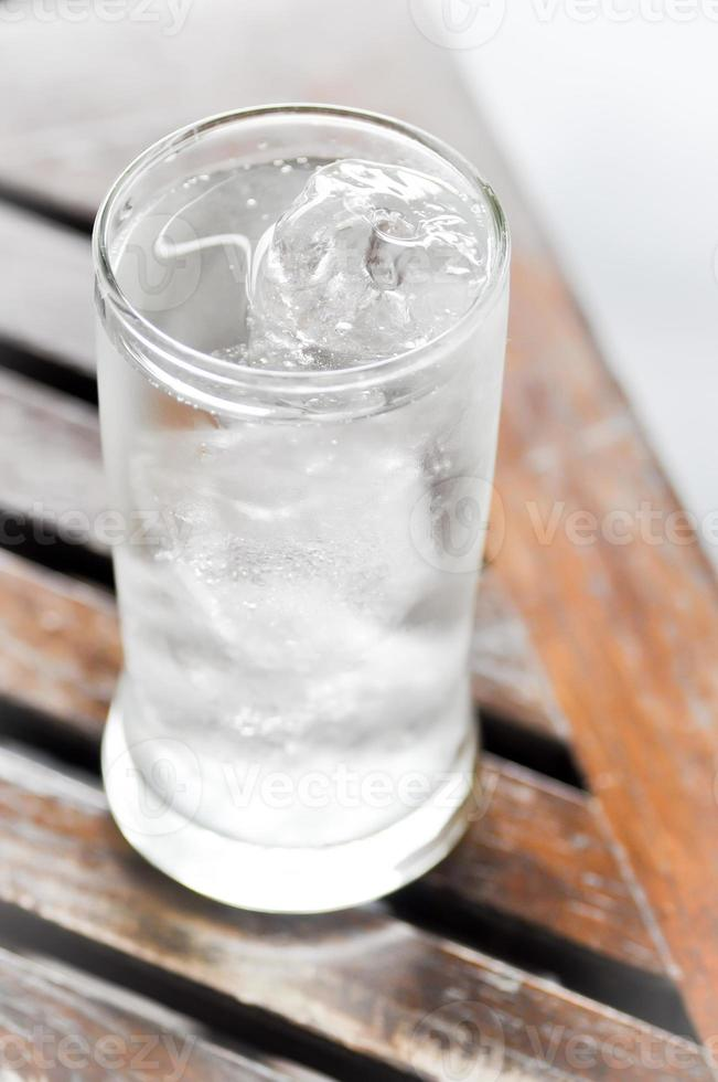 drinking water and ice photo