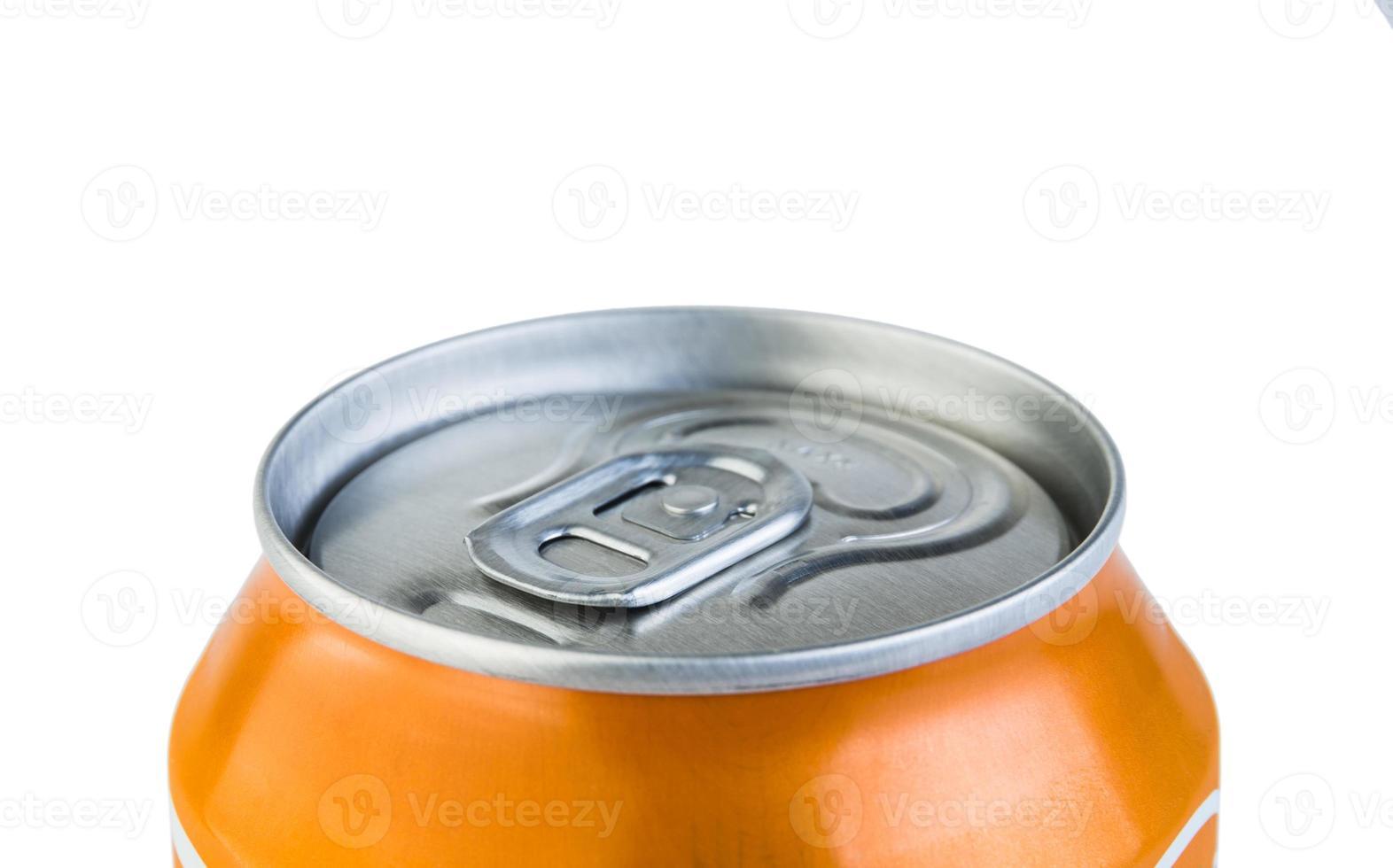 Aluminium jar with drink photo