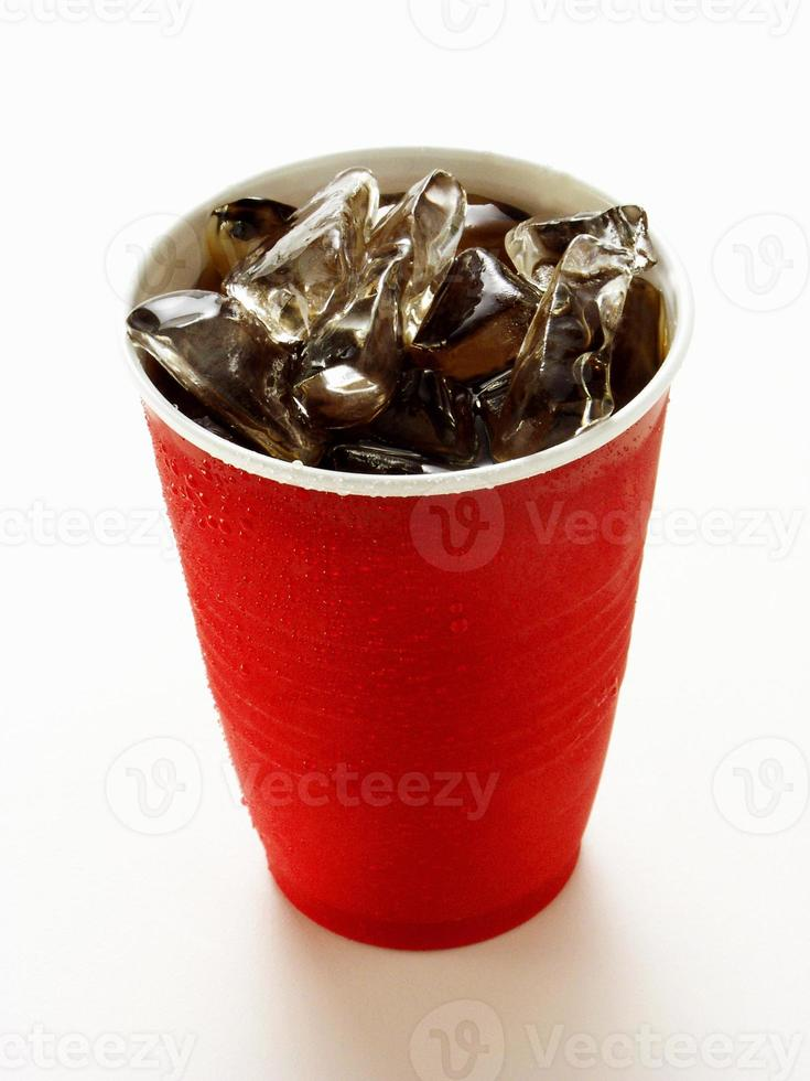 Cold drink over white photo