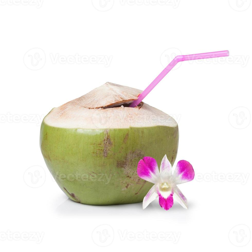 Fresh Coconut Water Drink photo