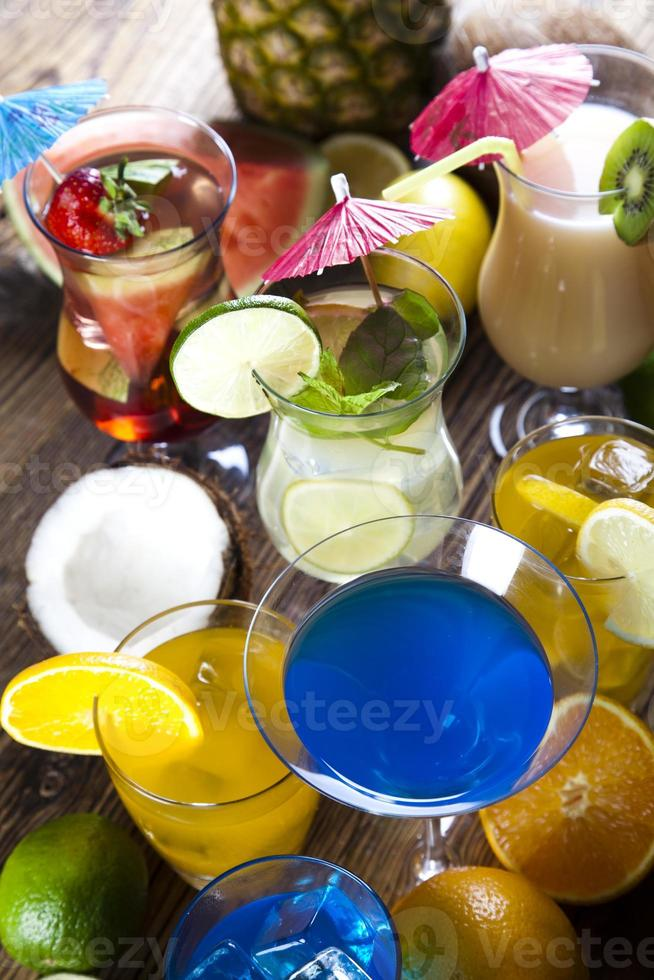 Fresh drink with fruits photo