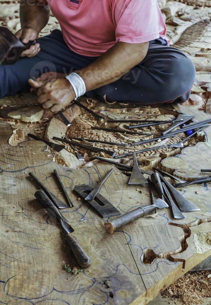 Carpenter and carve work photo