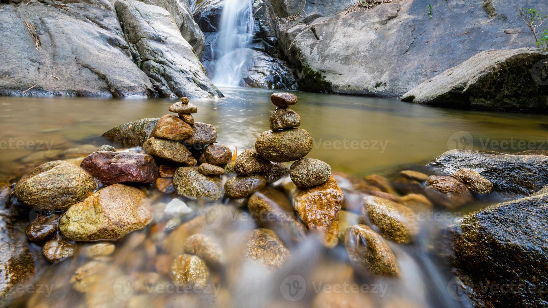 Deep forest waterfall at Huay Kaew waterfall, Chiang Rai, Thailand photo