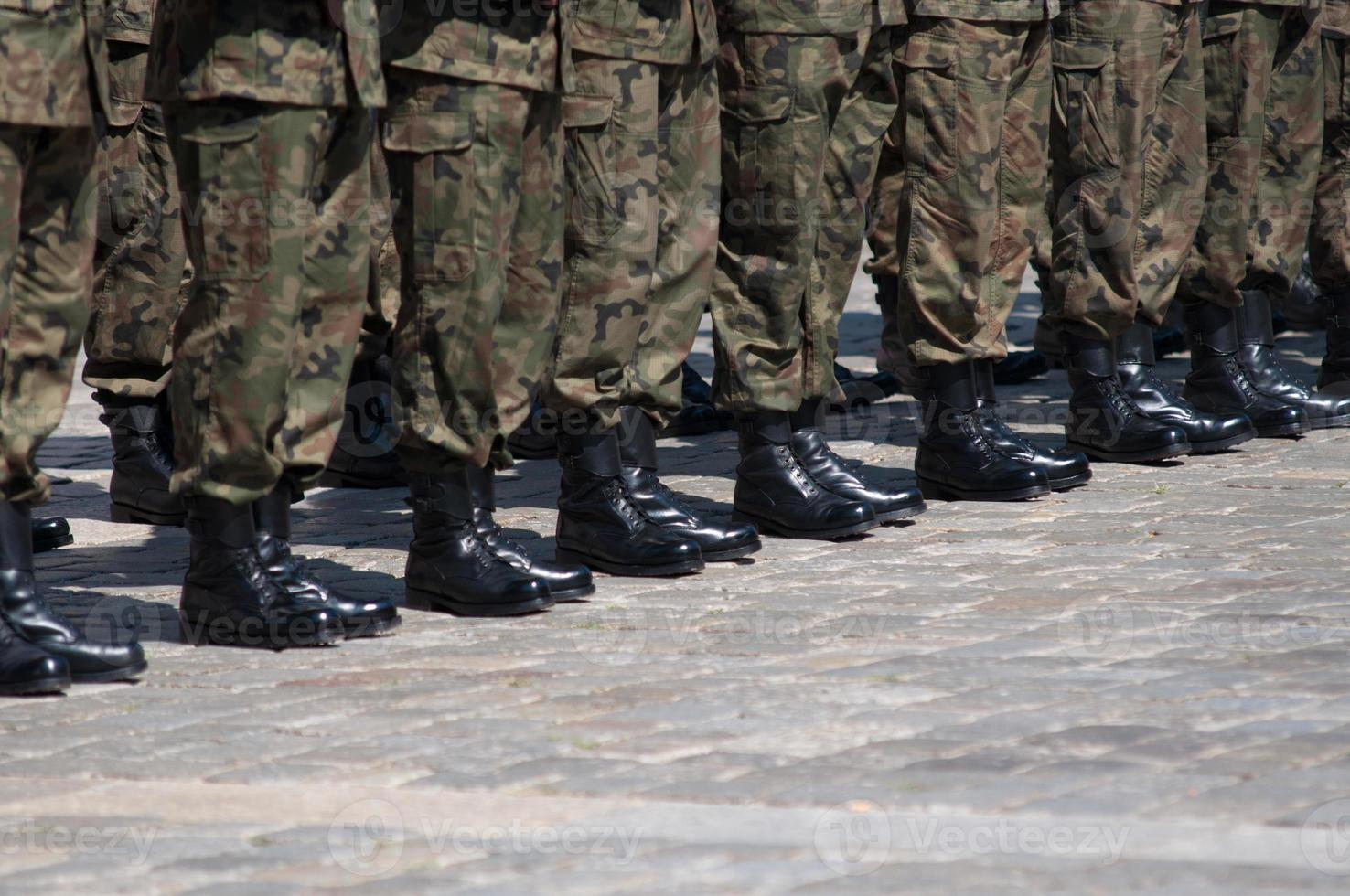 Soldier in formation photo