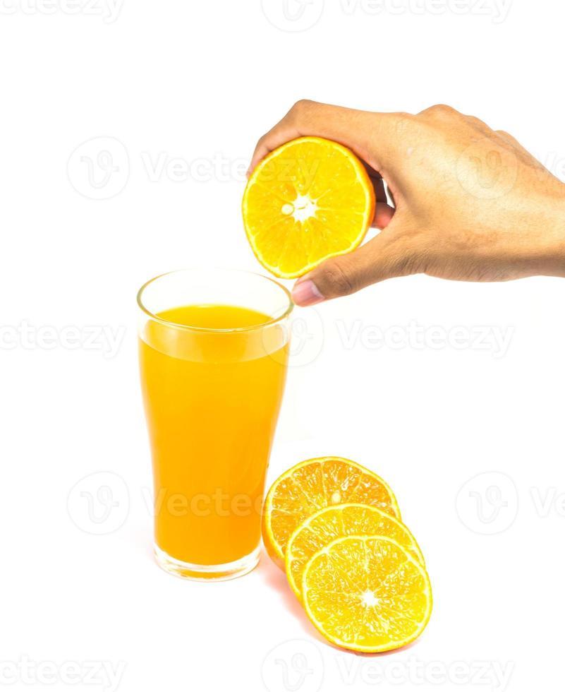 bebida de naranja foto