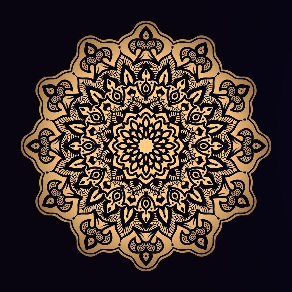 Stern formt goldenes Mandala vektor
