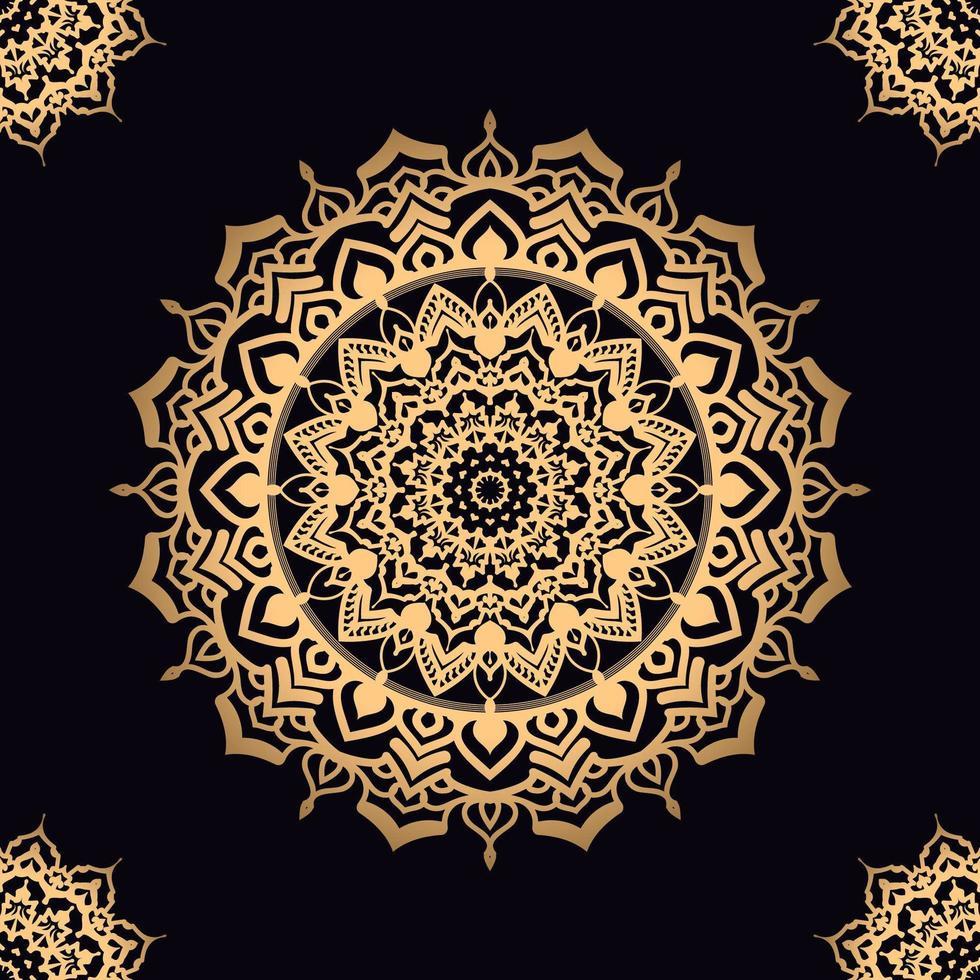 Golden Star Mandala mit Eckmotiven vektor