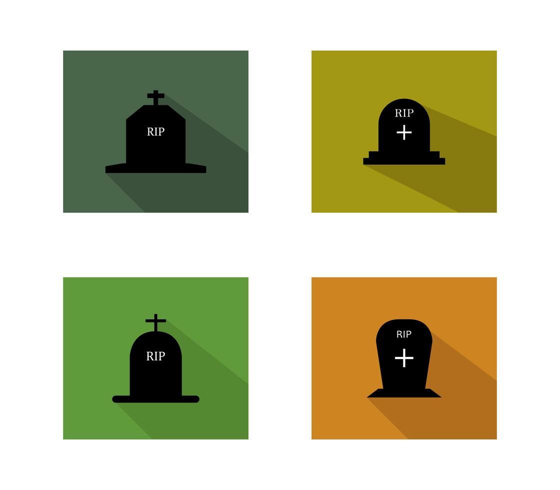 conjunto de iconos de lápidas vector