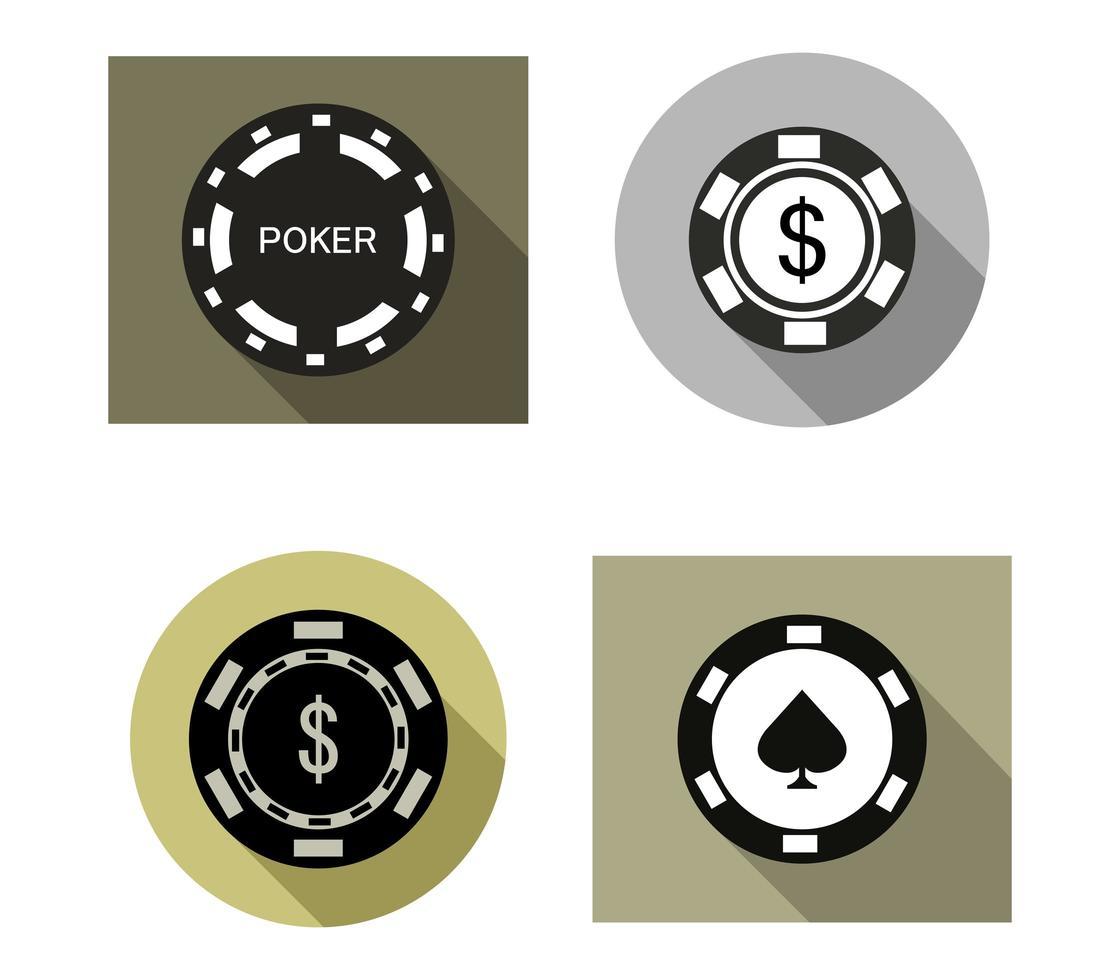 Poker Icon Set vektor