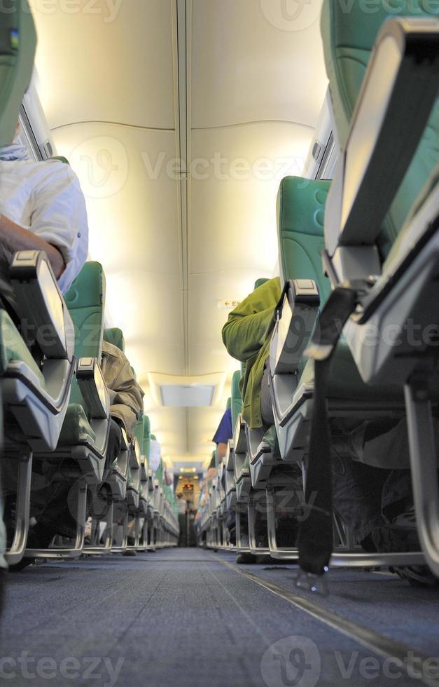 dentro de un avion foto