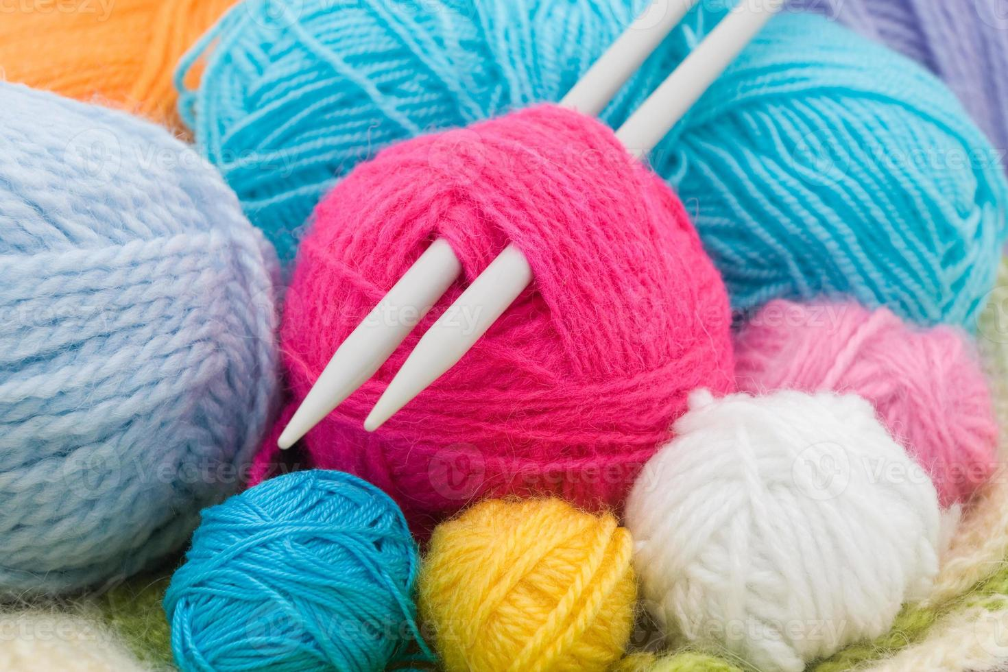 ovillos de lana foto