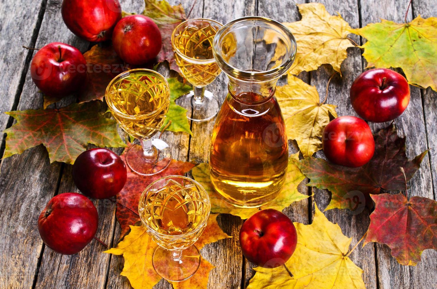 bebida de manzana foto