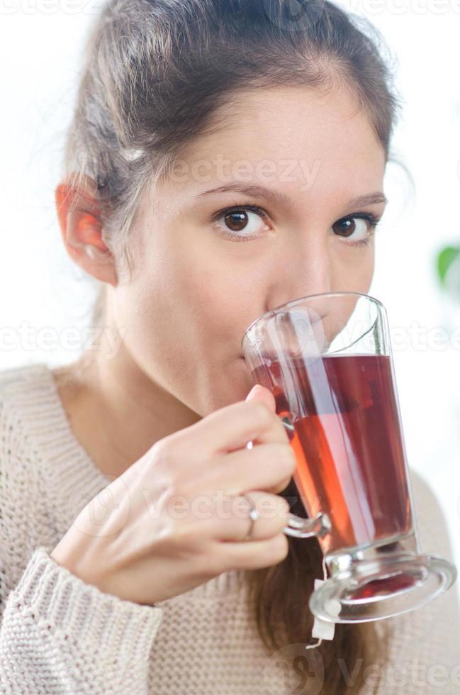 Drinking tea. photo