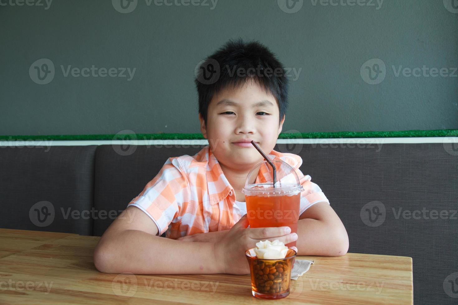 Boy drink photo