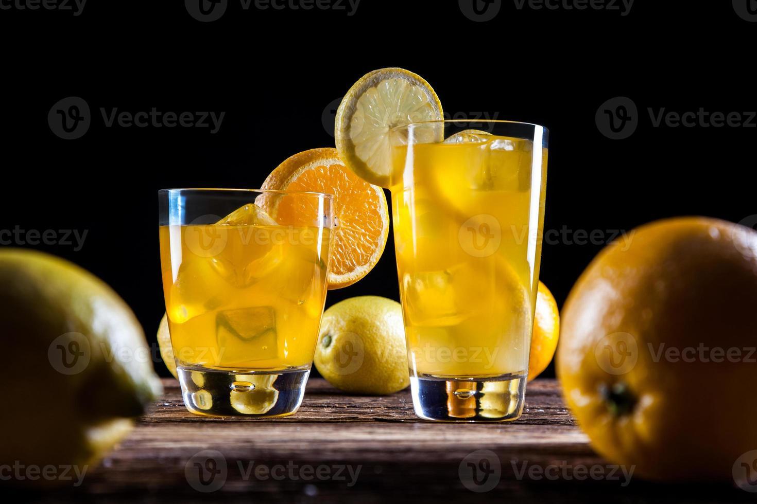 Fresh tasty drinks photo