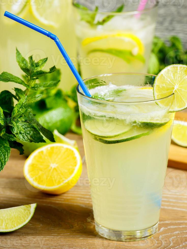 Fresh lemonade drink photo
