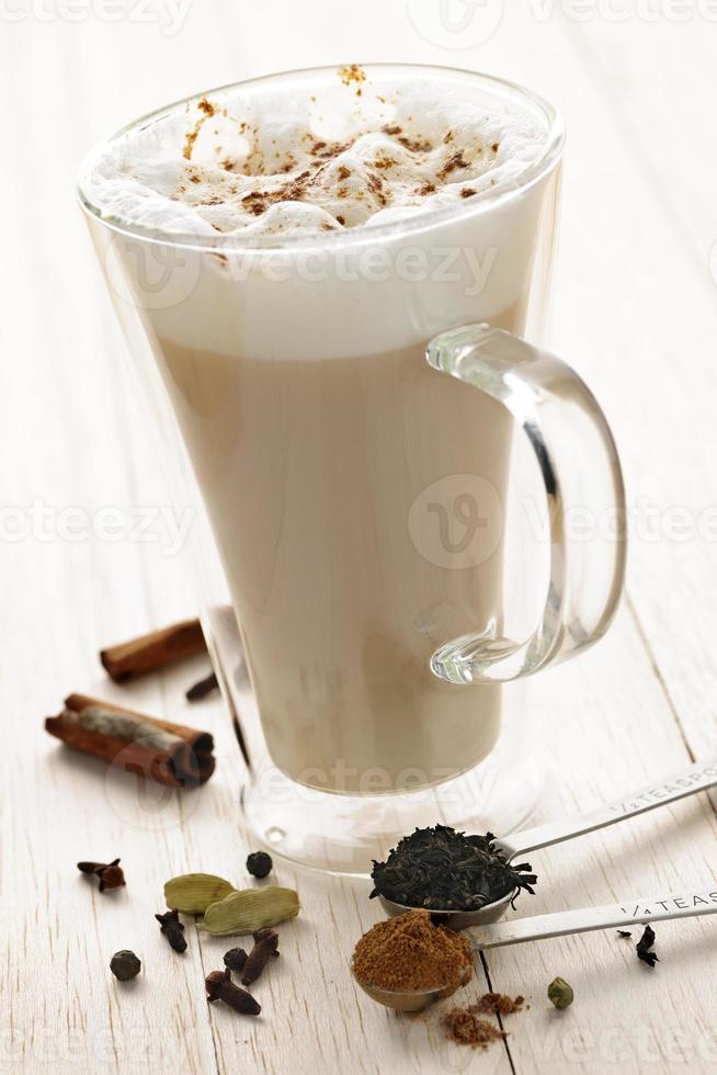 chai latte drink foto