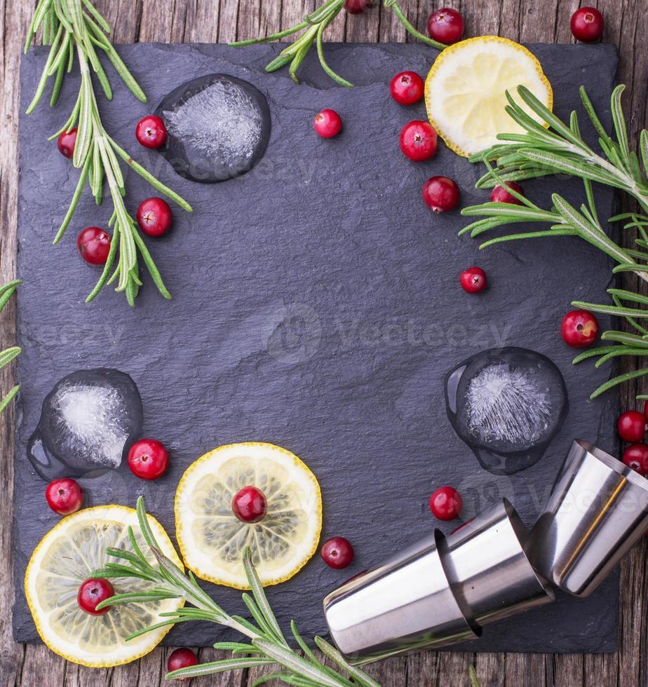 bebida de arándano para navidad foto