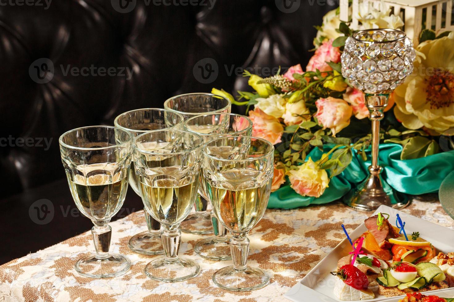 boissons à la réception photo