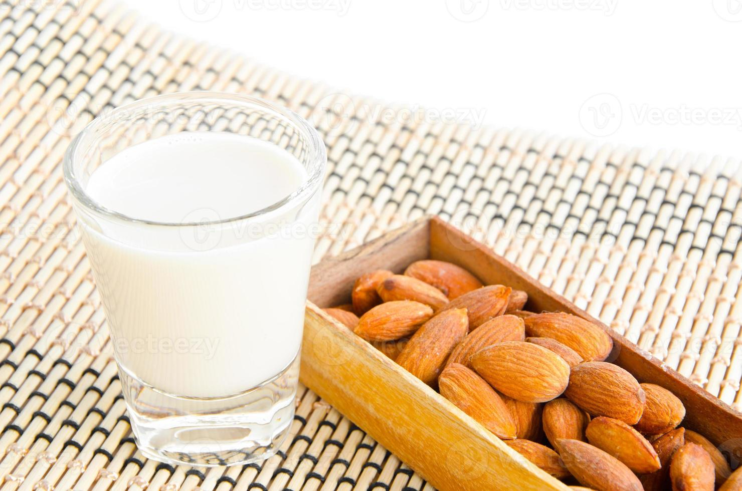almonds drink with almonds photo