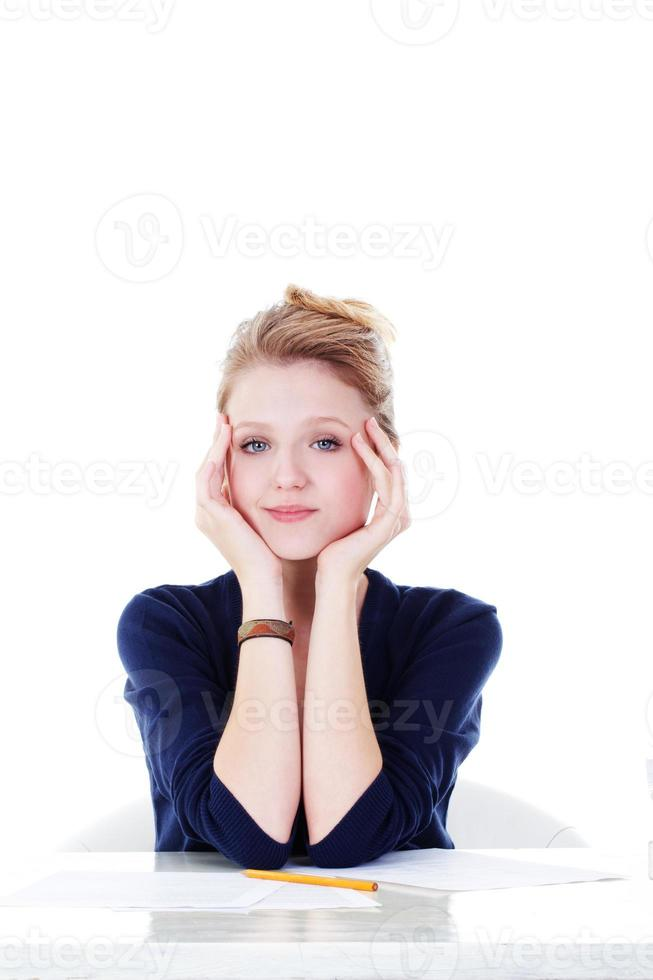 joven estudiante foto