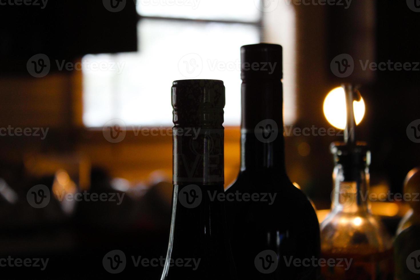 cocinar y beber vino foto