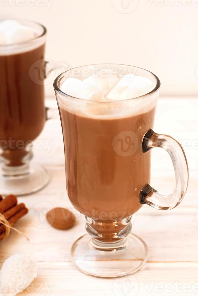 Cocoa drink with marshmellows photo