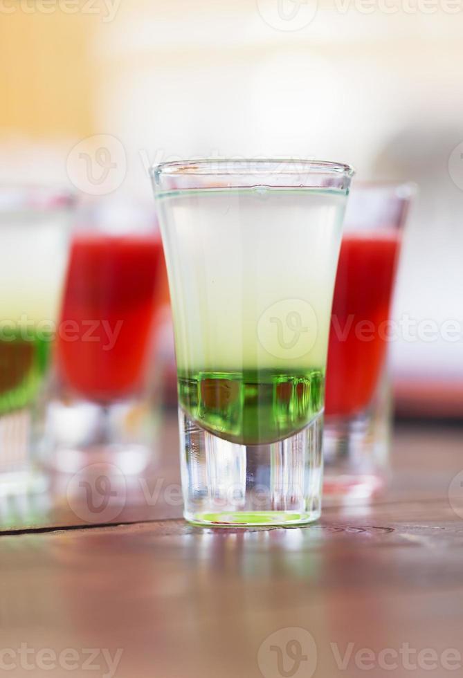 Raw of shot drinks photo