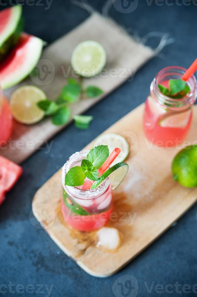 Delicious melon and lime drink photo