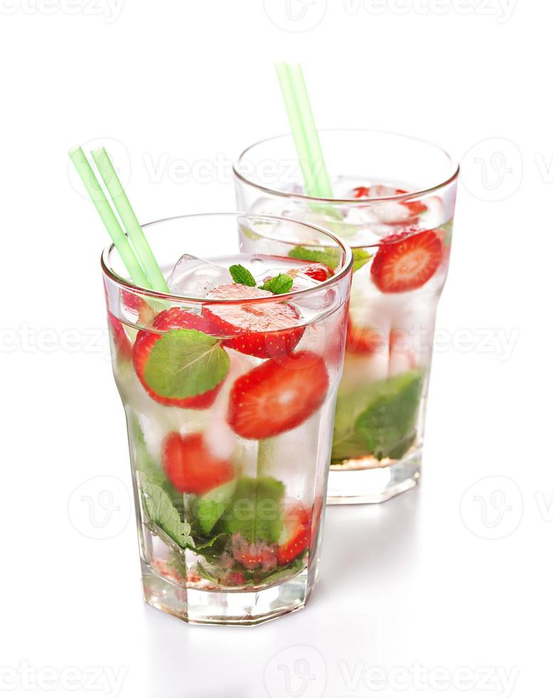 Strawberry mojito summer cocktail drink photo