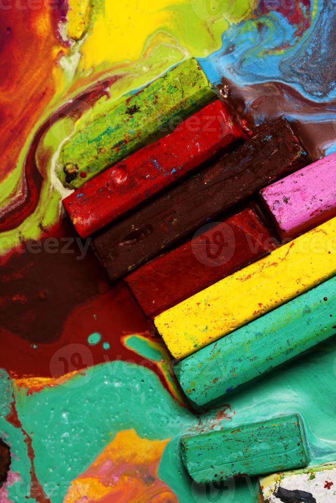 Oil pastels photo