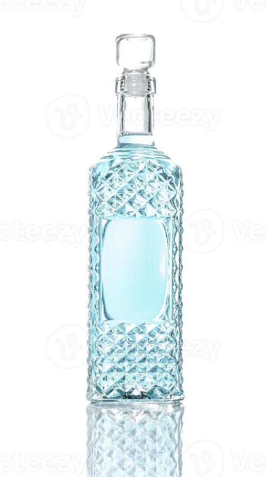 Alcohol drink, bottle of vodka photo
