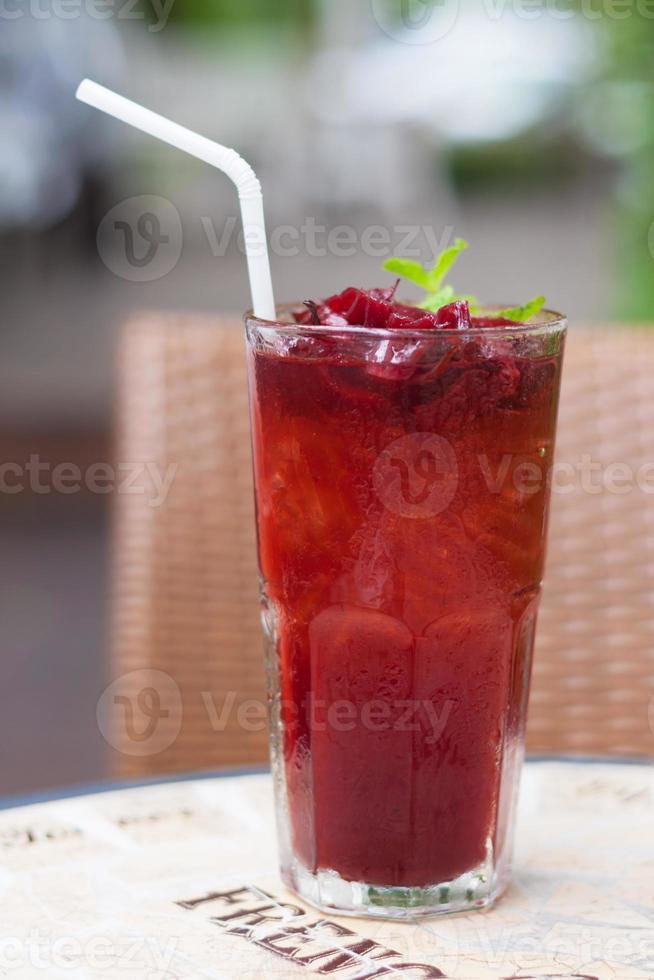 Roselle Mocktail Drink foto