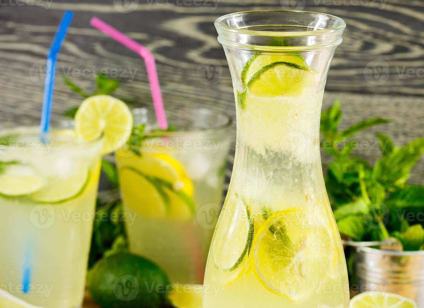 boisson fraîche à la limonade photo