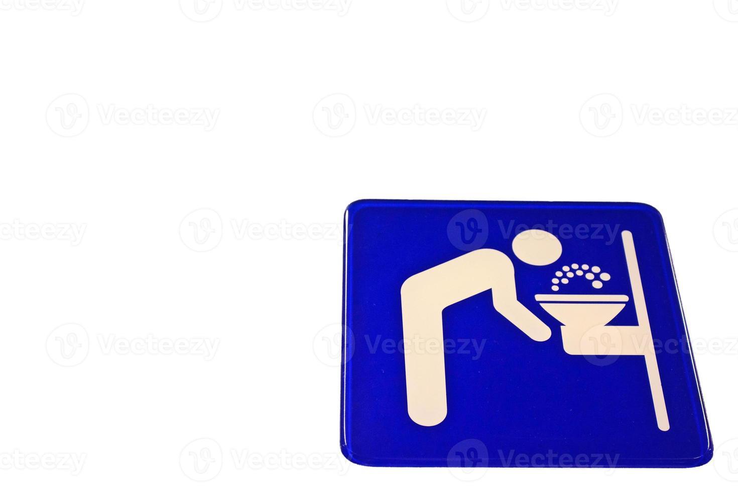 signo de agua potable foto