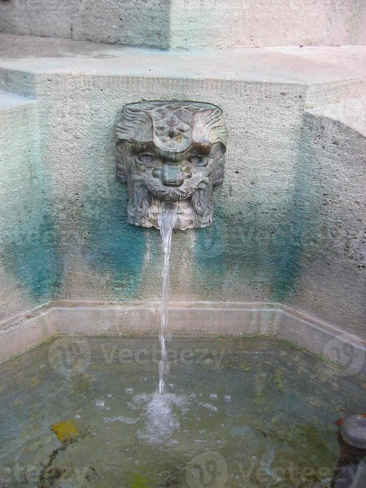 drinking fountain in zurich photo