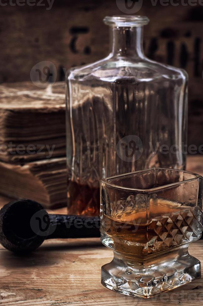 bebida alcohólica de whisky foto