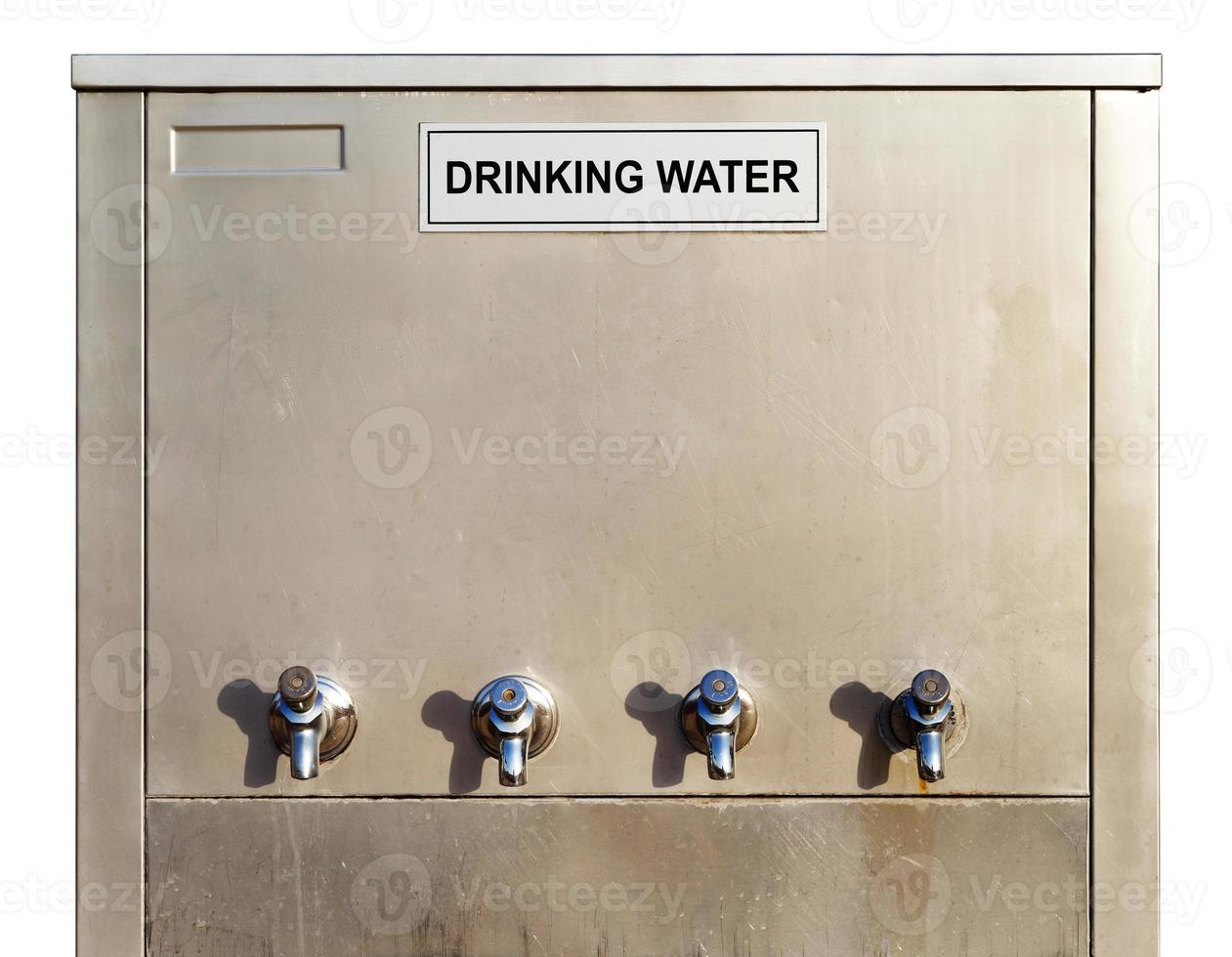 dispensador de agua potable de acero inoxidable foto