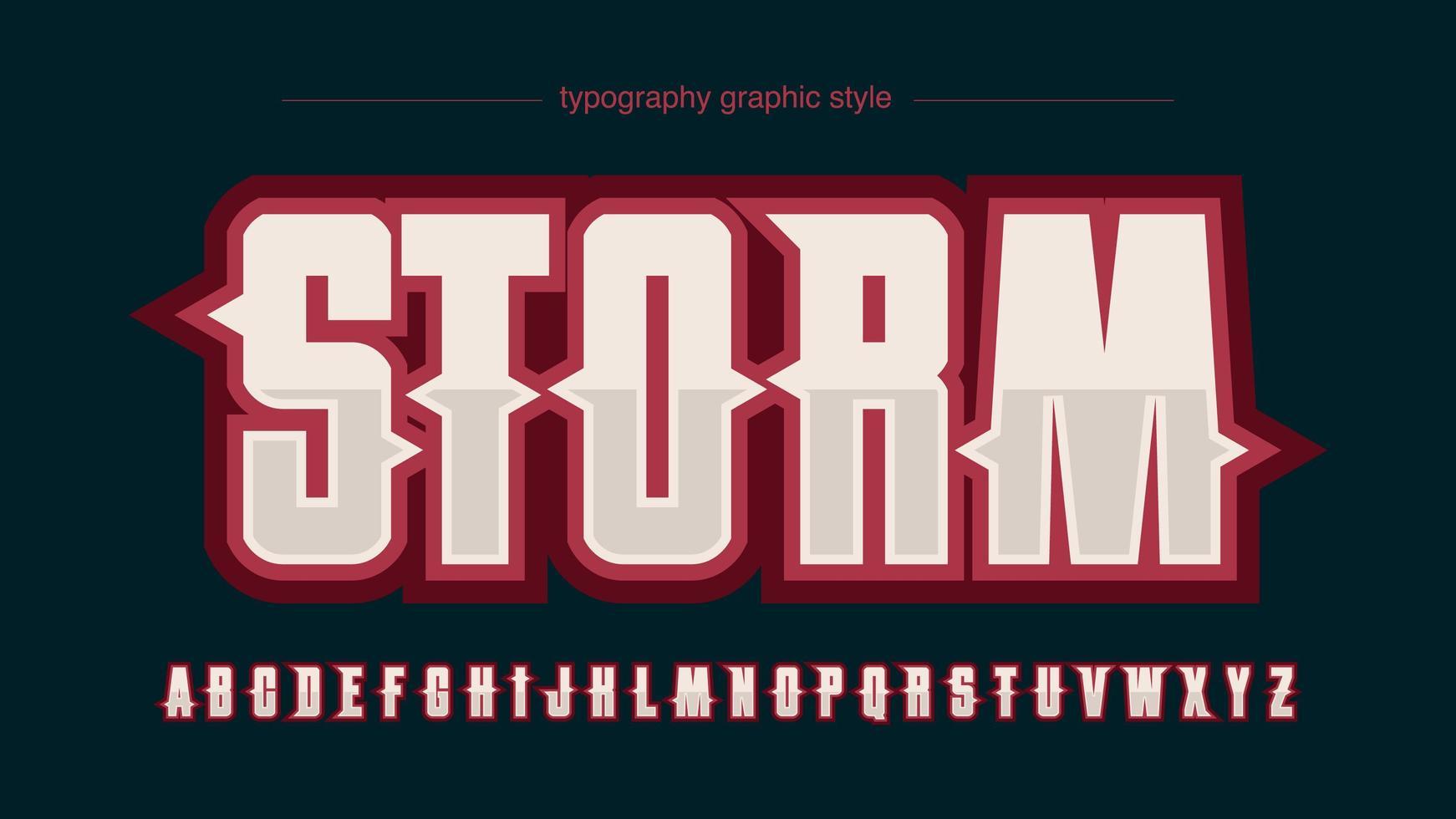 alfabeto logo moderno sport rosso vettore